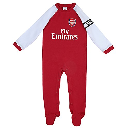 238c5b230 Official Arsenal Baby Core Kit Sleepsuit - 2017 18 Season (3-6 months) -  Buy Online in Oman.