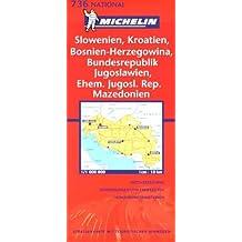 Michelin Karten, Bl.736 : Slowenien, Kroatien, Bosnien und Herzegowina, Serbien und Montenegro, Ehem. Jugosl. Rep. Mazedonien