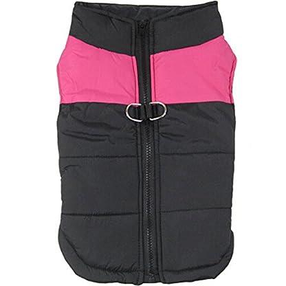 Treat Me Winter Dog Coat Warm Pet Jacket Raincoat of Nylon Fabric Cotton Filler Waterproof Protective Adjustable 2