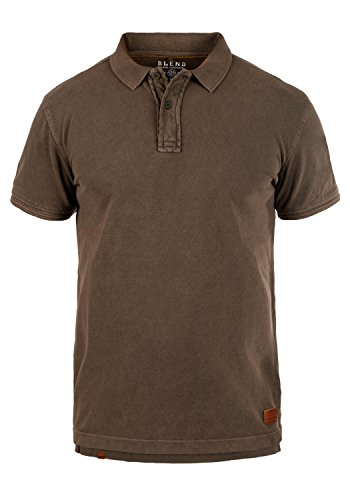 Blend Camper Herren Poloshirt Polohemd T-Shirt Shirt mit Polokragen Aus 100% Baumwolle, Größe:XXL, Farbe:Coffee Bean Brown (71507) (Braun-piqué-polo-shirt)