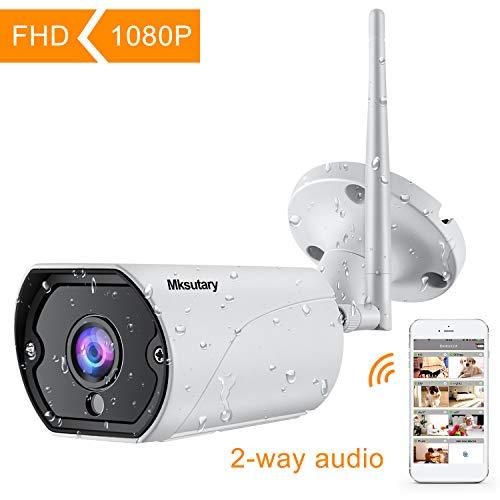 Caméra de Surveillance WiFi sans Fil, IP Camera Surveillance Extérieure HD 1080P avec IR-Cut Vision...