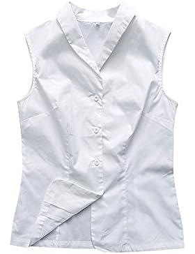 Candow Look femenino camisas slim fit blanco plus size cotton