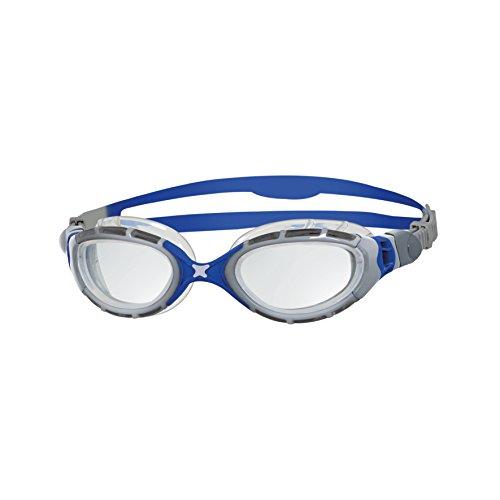 Zoggs Predator Flex Schwimmbrille, Silver/Blue/Clear, OneSize