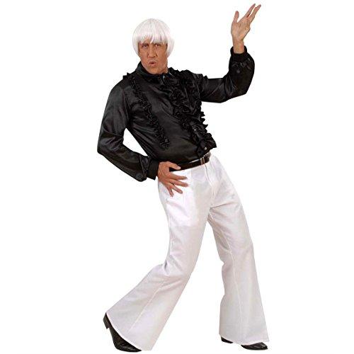 Disco Herren Weiße Hosen Kostüm - NET TOYS Weiße 70er Jahre Disco Hose Männer Herren Herrenhose Faschingshose Karnevalshose Kostüm Zubehör Größe L 50/52