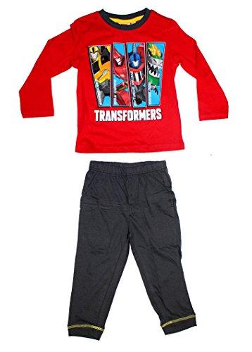 Schlafanzug Pyjama lang (98 (3 Jahre), Rot) (Transformers Bumblebee Schlafanzug)