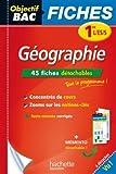 Objectif Bac Fiches détachables Géographie 1ères