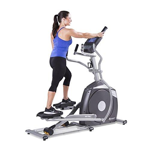 Spirit Fitness xe795Crosstrainer Cross Trainer, Fitness, Bewegung, Fitnessstudio, MP3-Audio Jack und Lautsprecher, Blau beleuchtetes LCD-Display, 12Trainingsprogramme, 40Widerstandslevel, eingebauter Ventilator, robusten Rahmen - 4