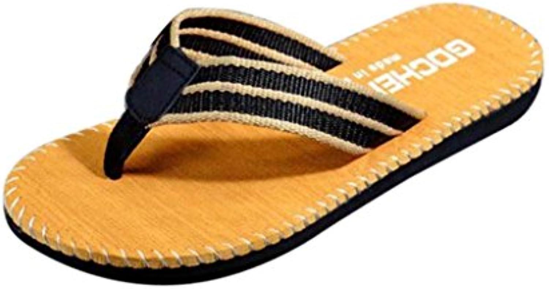 Logobeing Chanclas de Playa Verano Zapatos De Hombre Flip Flops Sandalias Chancletas Masculinas Casual Zapatillas  -