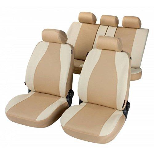 RMG R31V021 coprisedili per ALFA 147 fodere auto colore beige chiaro e scuro compatibili con sedili con airbag braciolo e sedili sdoppiabili