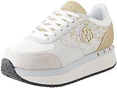 Idea Regalo - Guess Footwear Active Lady, Sneaker Donna, Bianco, 38 EU