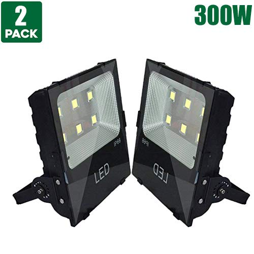LED Flood Light Outdoor Spotlight High Buchtlicht Wall Light Super Bright Safety Light - IP66 Waterproof, 39000Lumens, AC 220-240 V, Cool white, 300W -