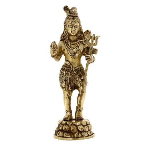 Estatua De Shiva Regalos Indio Pie Latón Grande El