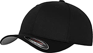 Flexfit 6277 Wooly Unisex Combed Cap, black, Youth