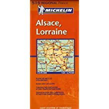 Michelin Karten, Bl.515 : Alsace, Lorraine, französische Ausgabe (Cartes Régional)