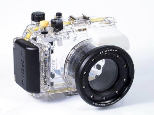 Cameraplus - Unterwasser digitalkamera - Unterwassergehäuse für SONY DSC-RX100 II bis 40m Wasserdicht leicht bedienbar