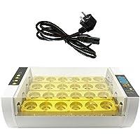 Prom-near 24 incubador automático digital claro del huevo tamaño pequeño cuerda ajustable medida (EU)