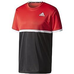 adidas Court Tee Camiseta de Tenis, Hombre, Rojo (Escarl), M
