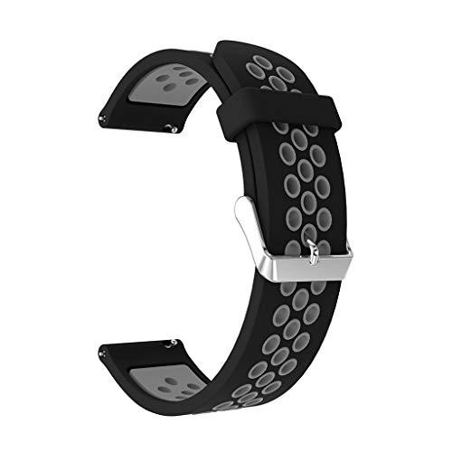 Battnot Uhrenarmbänder für Samsung Galaxy Watch Active Sport Silikon Uhrenarmband Handgelenksriemen für Damen Herren Einstellbar Ersatzband Adjustable Watch Band Replacement Wriststraps 20mm