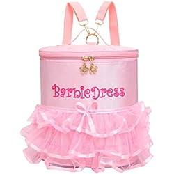 LUOEM Bolso de ballet rosa para niñas pequeñas Bolso de danza bordado de cintas lindas para ballet Niños Bailarinas de baile para niños Bolsas de baile