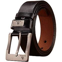 De alta calidad | Cinturón de lujo | Cuero auténtico | Correa | Hombre | hombre | hombres | cinturones | moda | diseño | clásico | Vintage | hebilla | Presente de cumpleaños | regalo | duradera