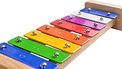 Xylophone - A Great Musical Toy for Kids & Children - This is the Best Glockenspiel In the Range - Perfect for for Budding Musicians; Educational Percussion Instrument with Complete with Colour Coded Tuned Musical Bars and Wooden Mallet Strikers - Finest