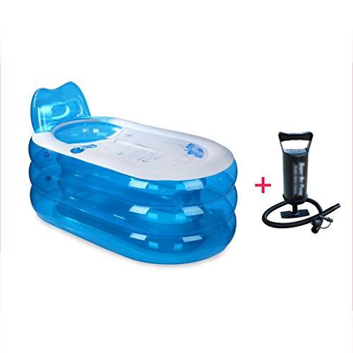 QIQIDEDIAN Tina de baño para Adultos Bañera Gruesa Plegable Plástica para niños Bañera de hidromasaje...