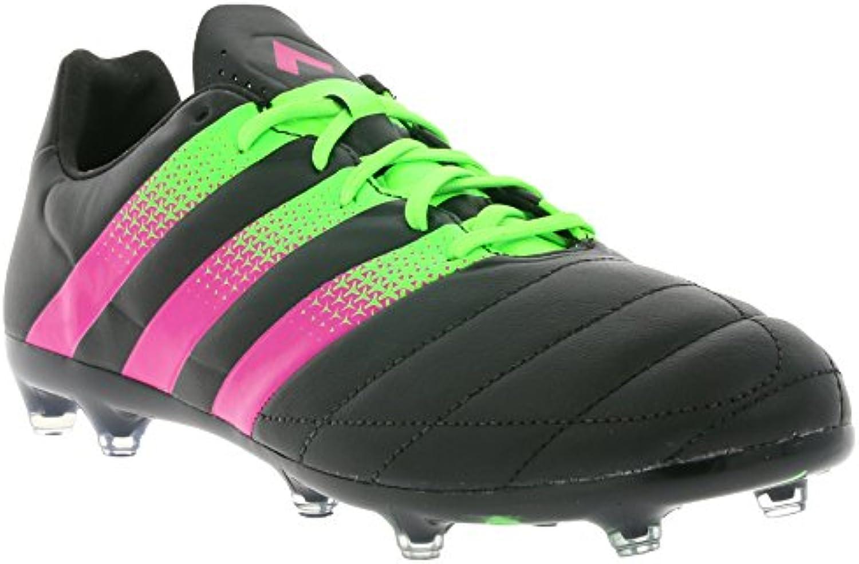 Adidas ACE 16.2 FG/AG de piel, color  - CBLACK/SGREEN/SHOPIN, tamaño 10