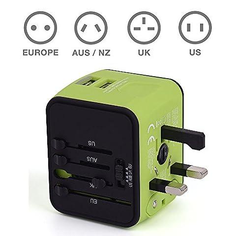 Voyage Adaptateur International avec Double Chargeur USB US / EU
