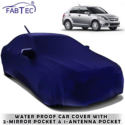 Fabtec Waterproof Car Body Cover for Maruti Swift Dzire 2012 with Mirror Antenna Pocket Storage Bag Combo