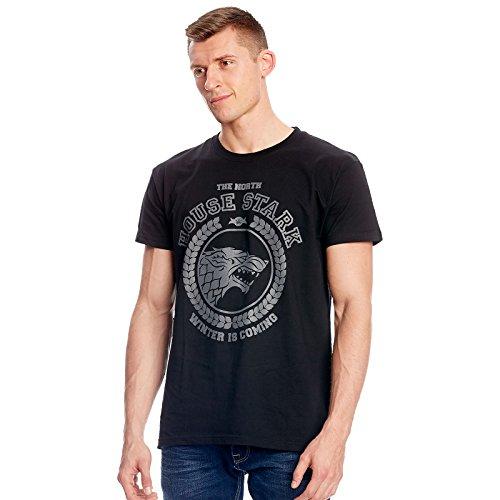 Game of Thrones T-Shirt Stark Wappen Elbenwald schwarz Schwarz