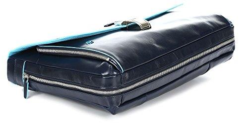 41VZF%2BI5imL - Piquadro Blue Square maletín fino expanible portaordenador concompartimento portaiPad®/iPad®Air - CA3111B2