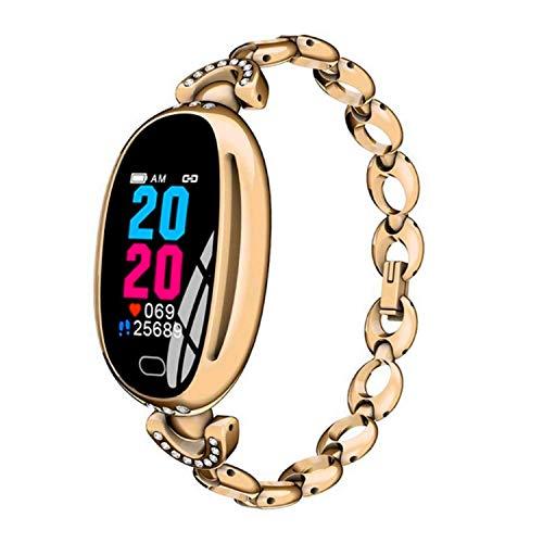 Fitness Tracker Smart Watch Damen - Blutdruck Herzfrequenzmesser Schrittzähler Wasserdichte Uhr - Armband Aktivitäts-Tracker - Sportarmband Bluetooth