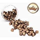 UNIQOOO Arts & Crafts 180 Pcs Metallic Antique Gold Sealing Wax Beads Nuggets for Wax Seal Stamp, Great for Embellishment of Cards Envelopes, Wedding Invitations, Wine Packages, Gift Wrapping