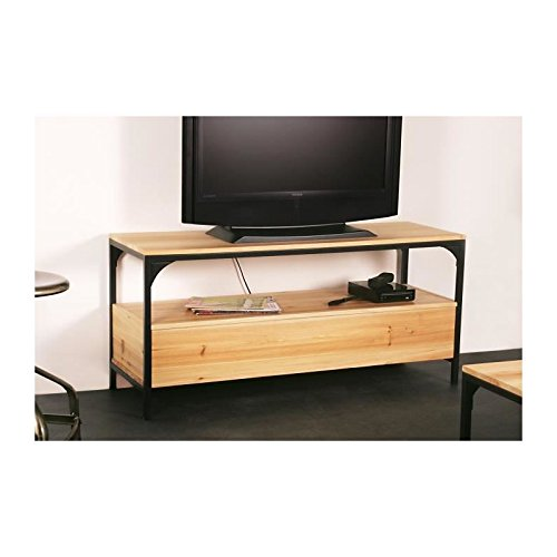 FINLANDEK Meuble TV TEOLLINEN 120 cm en métal et bois massif