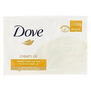 Dove–Jabón, limpiador de belleza con 1/4de crema hidratante–200g (Paquete de 2)