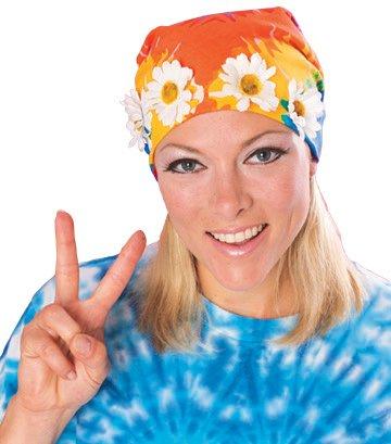 Rubies - Bandana hippie adulto con flores