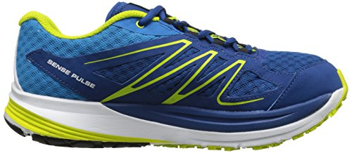 Salomon Sense Pulse, Chaussures de course homme Bleu - Blau (Gentiane/Methyl Blue/Gecko Green)