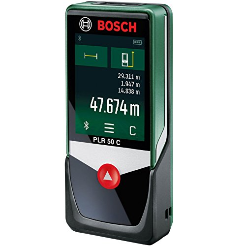 Bosch Home and Garden PLR 50 C Distanziometro Laser Connect, 0.1 W, 4.5 V, Verde, m