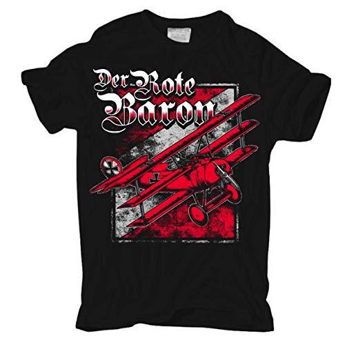 Männer und Herren T-Shirt Richthofen Der rote Baron Größe S - 8XL