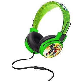 Skylanders Junior anpassbar Kopfhörer mit Volume Limiter und Mikrofon-Parent ASIN grün