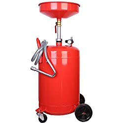 20 Gallon Oil drainer Portable Extractor Drain Air Mobile Waste Oil Tank