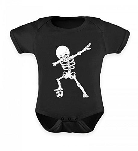 (Hochwertiges Baby Body - Dabbing Skelett mit Fussball Dab Gerippe Tanz Geschenk)