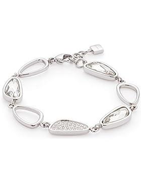 Leonardo Jewels Damen Armband Cinetico Edelstahl Glas silber 19 cm 016334