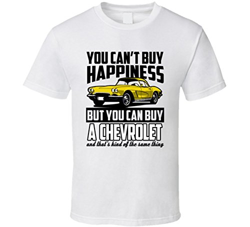 repents-amarillo-1962-chevrolet-corvette-you-can-t-comprar-felicidad-cool-coche-t-shirt