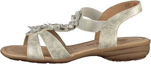 Remonte Sandalen in Übergrößen Blau R3633-14 Große Damenschuhe Silber(Weiß)