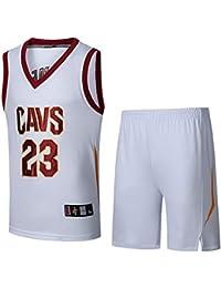 Basport NBA Cavaliers Jersey número 23 de James Ropa Masculina de Baloncesto de la Camiseta Traje