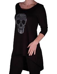 Amazon.fr   vetement tete de mort - Femme   Vêtements 20ce7e2a700