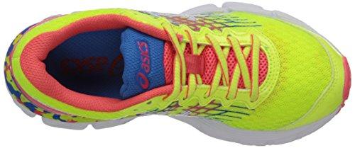 Asics Gel-Nimbus 17 GS Maschenweite Laufschuh Flash Yellow/Flash Pink/Blue