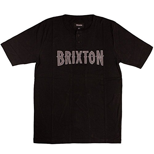 Brixton Benson Henley T-Shirt Black