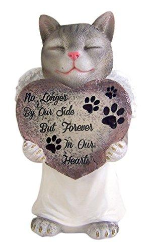 Kunstharz Pet Cat mit Engel Flügel Memorial Garden Statue 27,3cm -